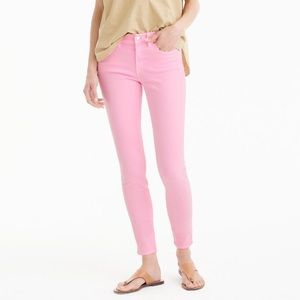 "J. Crew 8"" garment dyed Toothpick jeans"