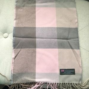 Accessories - Pink, brown, and grey cashmere scarf