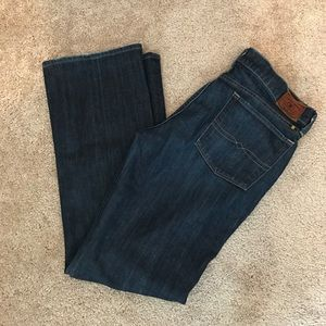 Lucky Brand dark wash boot cut jeans size 12/31