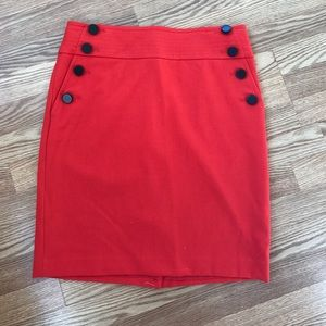 Loft Red sailor skirt size 12P