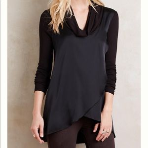 Anthropologie Deletta Drape Front Cowl Neck Tunic