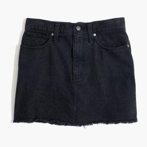 Madewell Mccaren black denim skirt