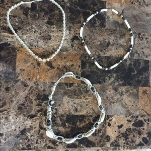 Set of 3 hemp/shell necklaces