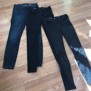 3 pairs of J Crew Lookout Jeans size 29