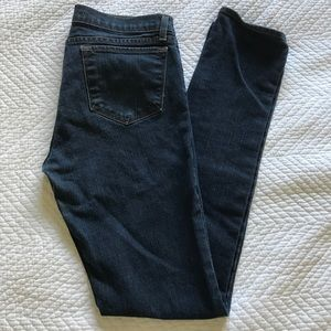 J Brand straight leg, dark wash jeans. EUC