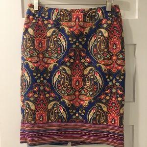 Merona Paisley Print Pencil Skirt