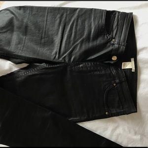 H&M coated black skinny jeans