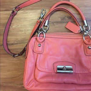 Coral Coach Hand bag