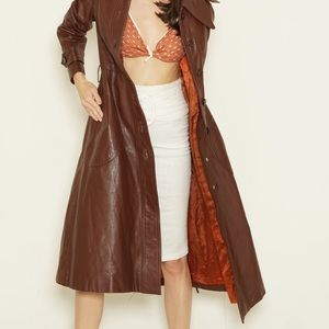 70s leather trench