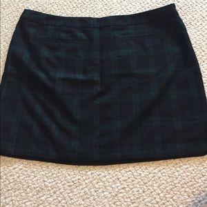 Gap Tartan Plaid Navy Skirt