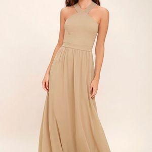 A beautiful nude colored Lulu's formal dress!