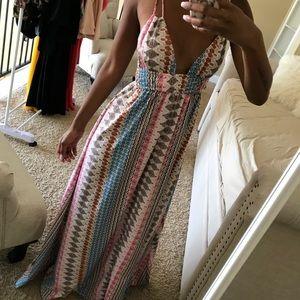 Multi Print Maxi Dress by LuLu's