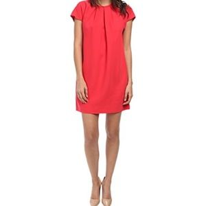 Kate Spade Short Sleeve Coral Crepe Dress