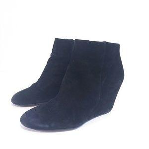 Via Spiga Women's Wedge Booties Black 7.5