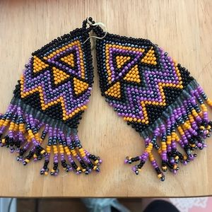 OU earrings