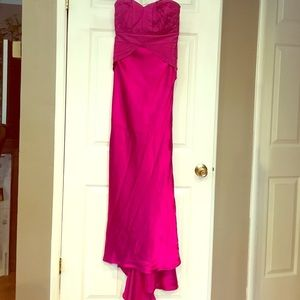 Amazing Phoebe Couture Magenta Gown Dress