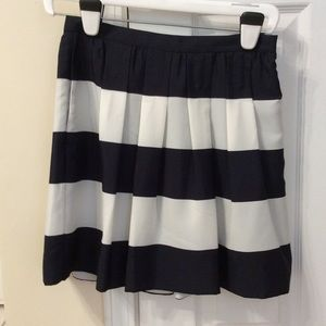 J. Crew factory striped pleated skirt