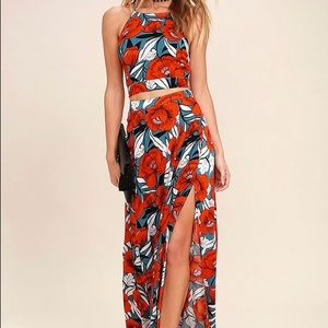 Floral two piece Lulus dress