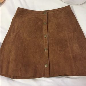 Forever 21 suede mini skirt