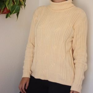 Turtleneck Cableknit Sweater