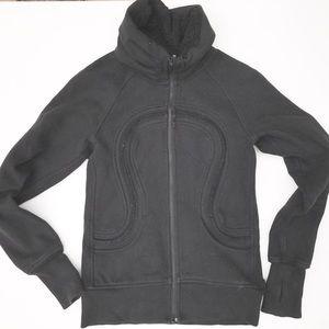 Lululemon Scuba stride Fleece Jacket black 6 8 zip