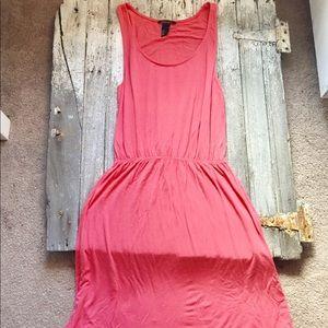 H&M Coral Comfy Tank Dress