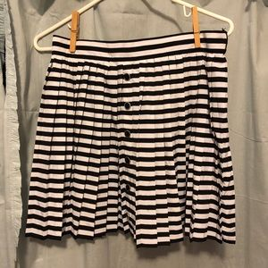 Black and white striped flow skirt
