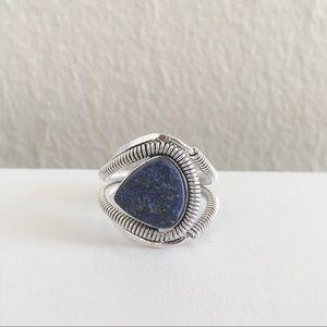 Sterling sliver lapis lazuli ring