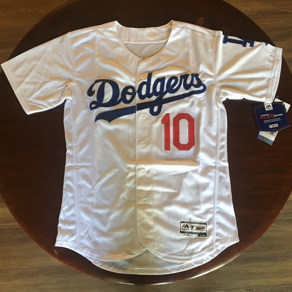 purchase cheap 3fed1 0a5ff Los Angeles Dodgers #10 Turner New white jersey NWT