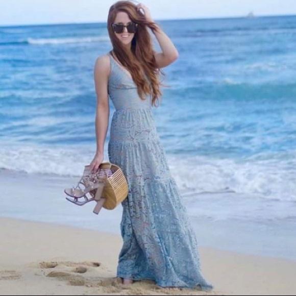 5ff8fa0171 Dress the Population Dresses | Lace Maxi Gown | Poshmark