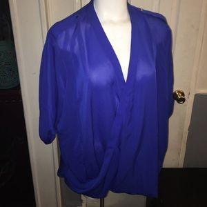 Royal Blue Sheer Top