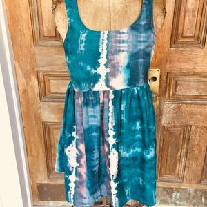Adorable Urban Outfitters Blue Tie Dye Dress