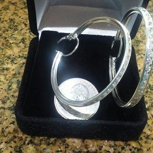 Jewelry - 925 Sterling Silver Hoop Earrings
