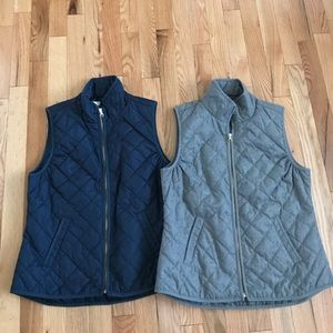 Old Navy quilted vests
