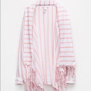 Girls stripe fringe girls wrap