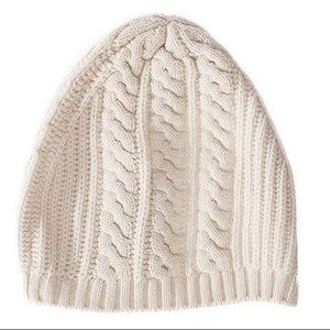 New! Joie Ivory Wool Cashmere Blend Beanie Hat