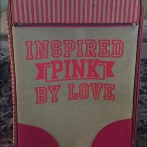Vs pink rare luggage