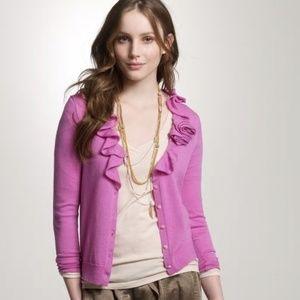 J. Crew Merino Wool Rose Corsage Cardigan Size XL