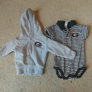 University of George Bulldogs Outfit 0/3 Months
