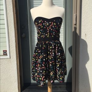 Anthropologie Floral Dress with Peekaboo back