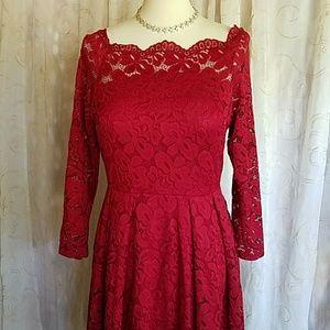 💋 Miuso Women's Floral Lace Coctail Dress
