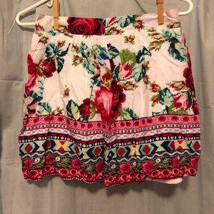Forever 21 floral print mini skirt