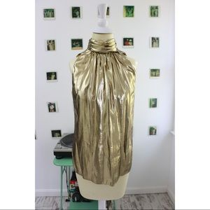 Vintage JULIE DUROCHE Dripped In Gold Blouse