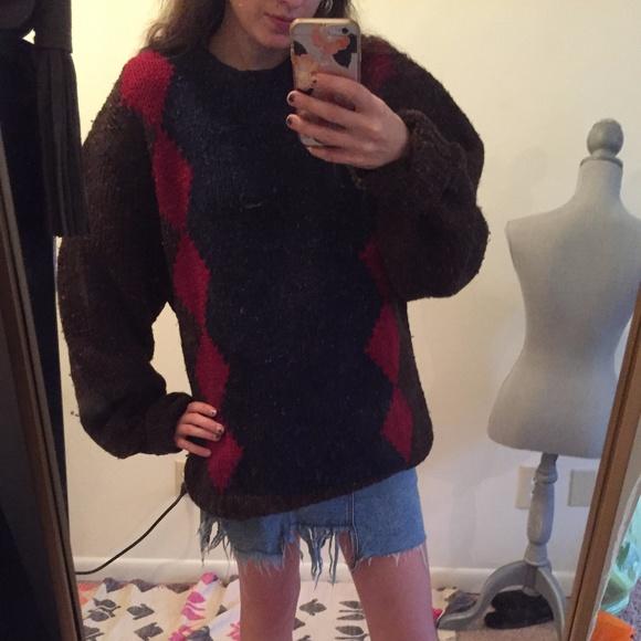 d22ed10552dbad Vintage Yves Saint Laurent Hand Knit Wool Sweater.  M_59e5232b7f0a05d8520095cd