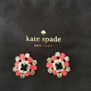 Kate Spade neon pink flower earrings