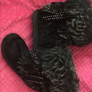 Justice Black boots Size 2