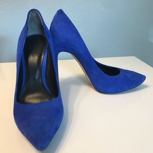 Rachel Roy Blue Suede Pumps
