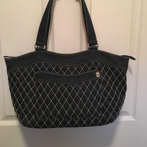 Vera Bradley denim quilted bag