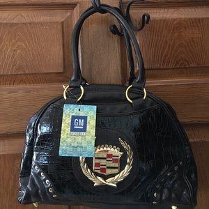 Luxury Cadillac crock style leg bottom large purse