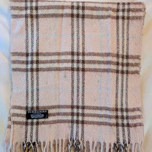 BURBERRY pink plaid scarf